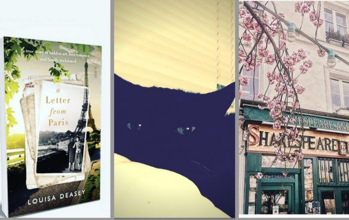 Book Cover, Cat, Shakespeare + Co bookshop