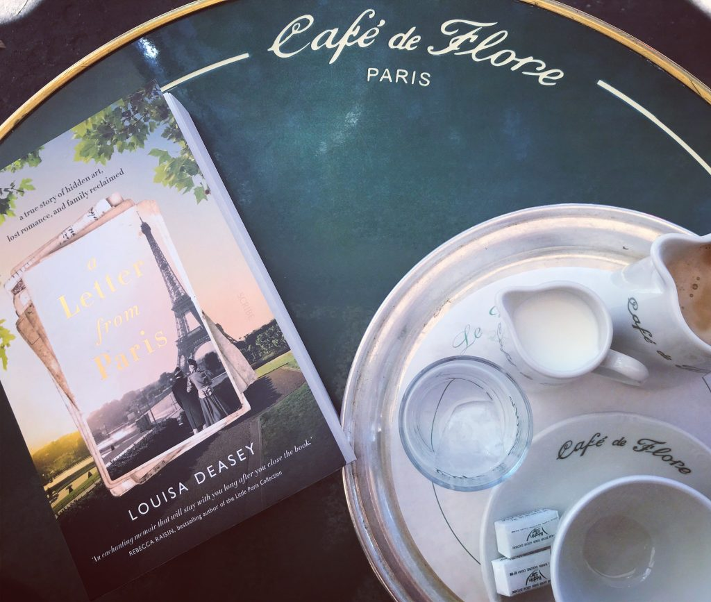 From manuscript to publication - a paperback on a cafe table in Paris