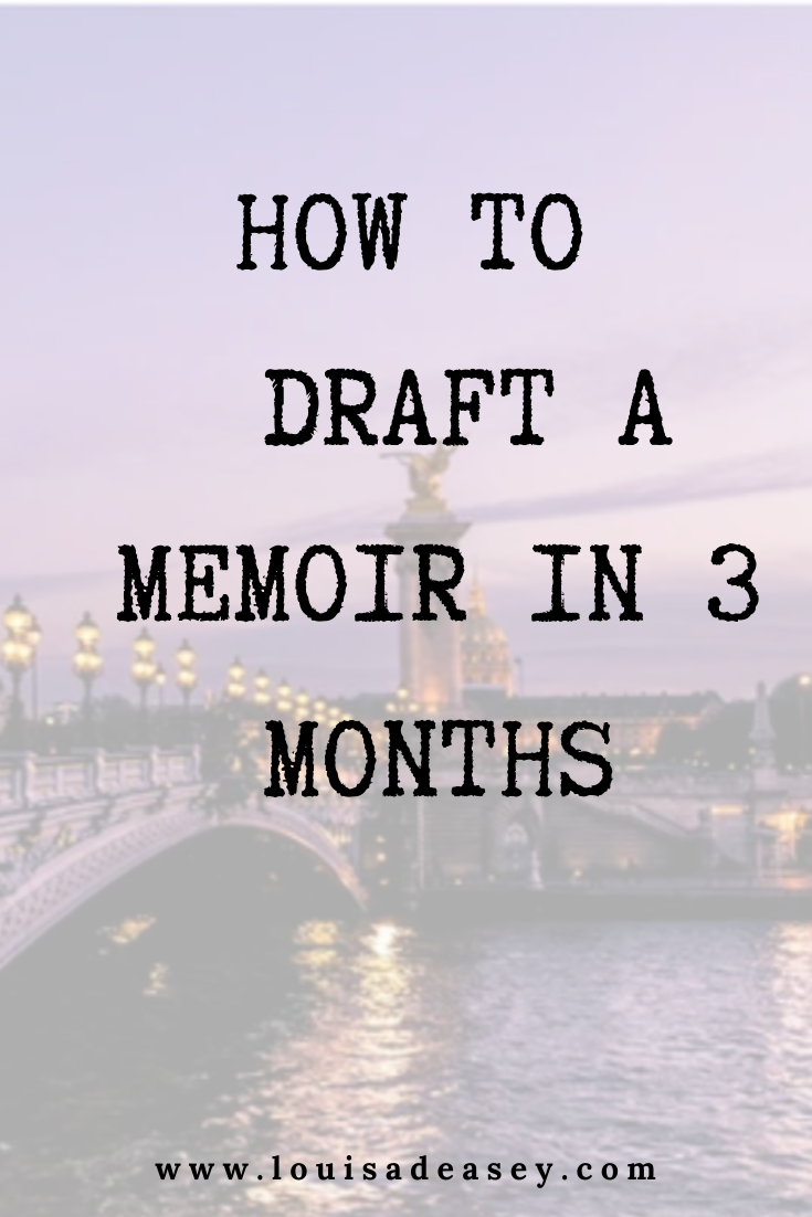 write your memoir in 3 months